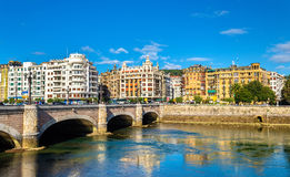 Cityscape of San Sebastian or Donostia - Spain. The Basque Country royalty free stock image