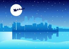 Cityscape Santa Claus Stock Photo