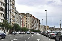 Cityscape of Santander, Cantabria Spain Stock Image