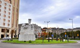 Cityscape of Santander, Cantabria Spain Stock Images