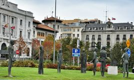 Cityscape of Santander, Cantabria Spain Stock Photo