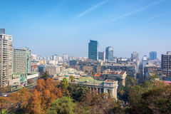 Cityscape of Santiago, Chile. View of downtown Santiago, Chile as seen from Santa Lucia Park Royalty Free Stock Image