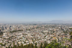 Cityscape of Santiago de Chile Royalty Free Stock Photo
