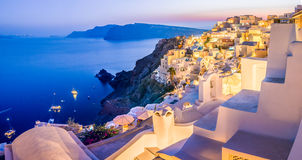 Cityscape of Santorini Island Royalty Free Stock Photography