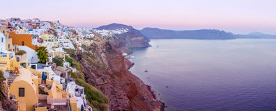 Cityscape of Santorini Island Royalty Free Stock Photos