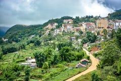 Cityscape of Sapa Village in Vietnam Stock Photos