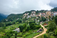 Cityscape of Sapa Village in Vietnam Royalty Free Stock Photography