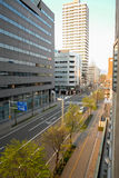 Cityscape of Sapporo (Day View) - APRIL 28, 2015: Sapporo is the Royalty Free Stock Photo