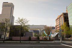 Cityscape of Sapporo (Day View) - APRIL 28, 2015: Sapporo is the Royalty Free Stock Image
