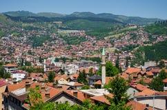 Cityscape of Sarajevo Royalty Free Stock Image