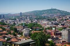 Cityscape of Sarajevo Stock Photos