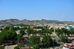 Cityscape, Sariwon, North-Korea Royalty Free Stock Photography