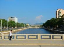 Cityscape, Sariwon, North-Korea Stock Images