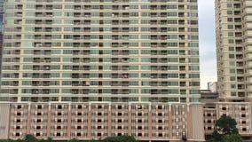 Cityscape of Sathorn Area in Bangkok stock video