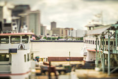 Cityscape scenes around new orleas louisiana downtown Stock Images