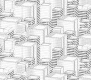 Cityscape seamless pattern Stock Photo