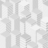 Cityscape seamless pattern Stock Photography