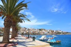 Cityscape with seaside Sitia Crete Stock Image