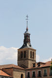 Cityscape from segovia, with an ancient steeple Royalty Free Stock Photo