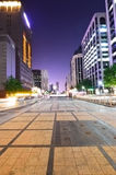 Cityscape of Seoul at Cheonggyecheon at night Royalty Free Stock Images
