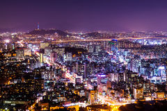 Cityscape of seoul Stock Photos