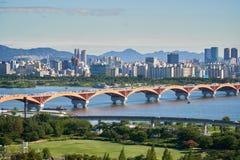 Cityscape of Seoul stock image