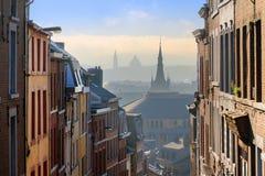 Cityscape ser igenom Liege Royaltyfri Foto