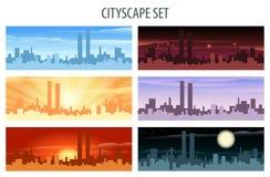 Cityscape Set Royalty Free Stock Photo