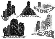 Cityscape Set Stock Photography