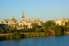 Cityscape of Sevilla, Spain Royalty Free Stock Images