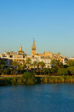 Cityscape of Seville, Spain Royalty Free Stock Photography