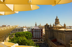 Cityscape of Seville, Spain Royalty Free Stock Images