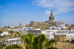 Cityscape of seville spain Royalty Free Stock Image