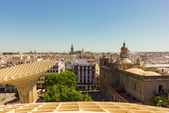 Cityscape of Seville, Spain Stock Image