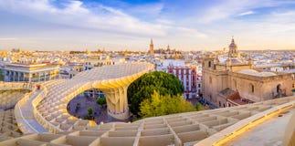 Cityscape of Seville Stock Image