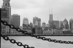 The cityscape of Shanghai. Stock Photography