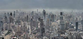 cityscape shanghai Arkivbild