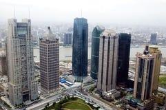 cityscape shanghai arkivfoto