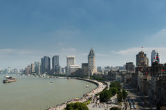 Cityscape of in Shanghai bund with modern buildings at Shanghai,. China Royalty Free Stock Photography