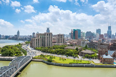 Cityscape of shanghai the bund Stock Photography