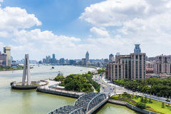 Cityscape of shanghai in daytime Royalty Free Stock Photos
