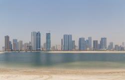 Cityscape of Sharjah Stock Photo