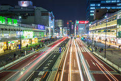 Cityscape of Shinjuku district in Tokyo, Japan Royalty Free Stock Images