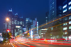 Cityscape of Shinjuku district with traffic lights, Tokyo Royalty Free Stock Photo