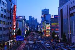 Cityscape of Shinjuku, Tokyo Stock Photos