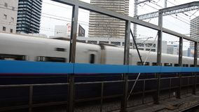 Cityscape and  Shinkansen Japanese Bullet Train from Narita international airport stock video footage