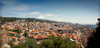 Cityscape of Sibenik, Croatia Royalty Free Stock Photography