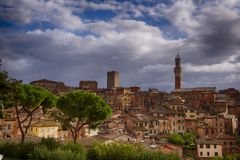 Cityscape of Siena Stock Image