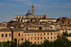 Cityscape of Siena with cathedral Stock Photos