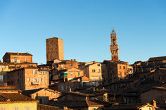 Cityscape of Siena in the Evening - Italy Stock Photography